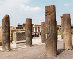 Pillars of building in Pompeii